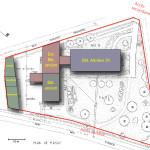 Plan masse d'un site existant