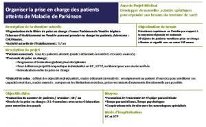 Exemple de fiche action issue d'un projet médical